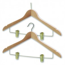 Northmace Coathanger With Skirt/Trouser Clips Brass