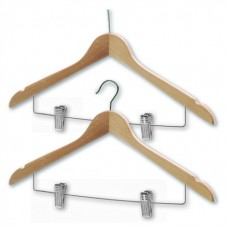 Northmace Coathanger With Skirt/Trouser Clips Chrome